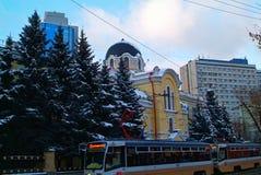 Oud huis in Moskou Royalty-vrije Stock Afbeeldingen