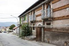 Oud huis na de aardbeving in Italië Royalty-vrije Stock Foto