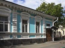 Oud huis in Nizhny Novgorod Rusland royalty-vrije stock foto's