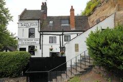 Oud huis in Nottingham, het UK royalty-vrije stock foto's