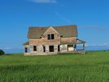 Oud Huis op Prairie2 Royalty-vrije Stock Afbeeldingen