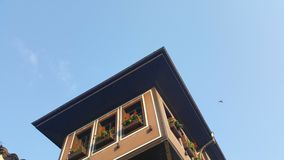 Oud Huis in Oude Stad, Plovdiv - Europees Kapitaal van Cultuur stock foto
