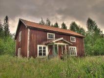 Oud huis in platteland Royalty-vrije Stock Foto