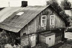 Oud huis in Polen Royalty-vrije Stock Afbeeldingen