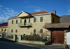 Oud Huis in Prespa - Resen Stock Afbeeldingen