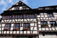 Oud huis in Straatsburg, La Petite France. Stock Afbeeldingen