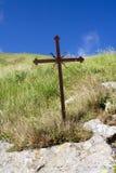 Oud ijzer christelijk kruis Royalty-vrije Stock Afbeeldingen
