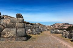 oud Inca-bolwerk royalty-vrije stock foto's