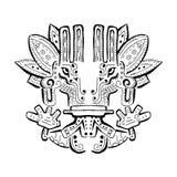 Oud Inca-ornament stock illustratie