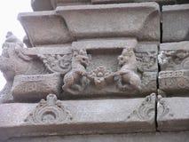 Oud Indisch rotsbeeldhouwwerk Royalty-vrije Stock Afbeelding