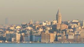 Oud Istanboel bij dageraad stock footage
