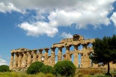 Oud Italië, Griekse tempel in Agrigento, Sicilië Stock Foto's