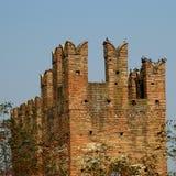 Oud Italiaans kasteel Royalty-vrije Stock Afbeeldingen