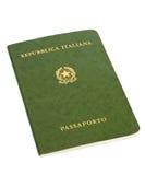 Oud Italiaans paspoort Stock Foto's
