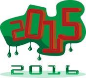 Oud jaar en nieuw jaar Stock Afbeelding