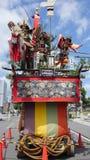 Oud Japans samoeraienheiligdom stock foto