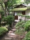 Oud Japans theehuis royalty-vrije stock afbeeldingen