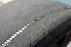 Oud kaal rubber royalty-vrije stock fotografie