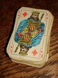 Oud Kaartendek royalty-vrije stock foto's