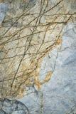 Oud kalksteen met groeven over Royalty-vrije Stock Foto's