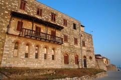 Oud kalksteenhuis in Porec, Kroatië Stock Foto