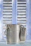 Oud kan container voor melk Royalty-vrije Stock Foto's