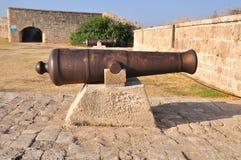 Oud kanon. stock foto's