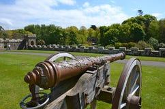 Oud kanon bij Culzean Kasteel, Ayrshire Royalty-vrije Stock Foto