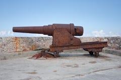 Oud kanon bij Gr Morro. #2 Stock Foto's