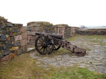 Oud kanon in eilandfort Royalty-vrije Stock Fotografie