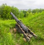 Oud kanon in groen gras Royalty-vrije Stock Afbeelding