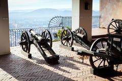 Oud kanon op de doelstellingen van het kanonvervoer aan Graz Royalty-vrije Stock Foto