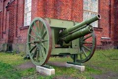 Oud kanon op een eiland vóór Helsinki royalty-vrije stock foto