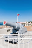Oud kanon op Gibraltar Stock Foto