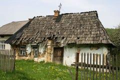Oud Karpatian-huis Stock Fotografie