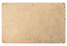 Oud karton met randen Uitstekende grungy document textuur Royalty-vrije Stock Afbeeldingen