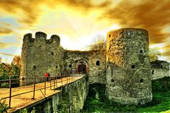 Oud kasteel stock foto's