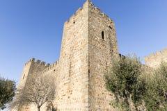 Oud kasteel in Amieira do Tejo, Nisa, district van Portalegre, Portugal Stock Afbeelding