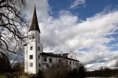 Oud kasteel architecturaal oriëntatiepunt stock afbeelding