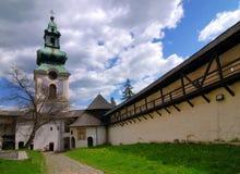 Oud kasteel in Banska Stiavnica royalty-vrije stock foto