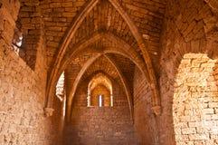 Oud kasteel in de Gotische stijl. stock afbeeldingen
