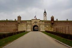 Oud kasteel in de stad van Belgrado in Servië Stock Fotografie