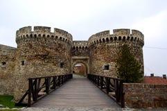 Oud kasteel in de stad van Belgrado in Servië Royalty-vrije Stock Foto's