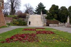 Oud kasteel in de stad van Belgrado in Servië Stock Afbeelding