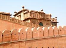 Oud Kasteel en Oude Stadsmuur in Jaipur, Rajasthan, India Royalty-vrije Stock Foto