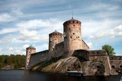 Oud kasteel in Finland Stock Afbeelding