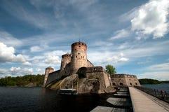 Oud kasteel in Finland stock foto's