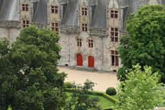 Oud kasteel in Frans Bretagne royalty-vrije stock afbeelding