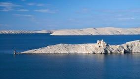 Oud kasteel in het Pag-eiland Royalty-vrije Stock Foto