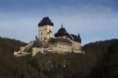 Oud kasteel-Karlstejn-oriëntatiepunt royalty-vrije stock fotografie